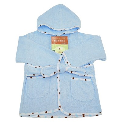 TL Care Organic Terry Robe - Blue