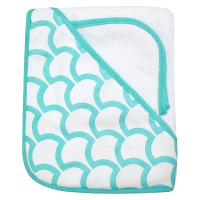 TL Care Organic Terry Hooded Towel Set - Aqua