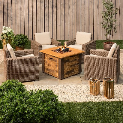 Threshold™ Heatherstone Wicker Patio Conversation Furniture Collection