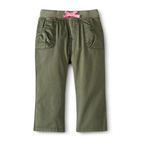 Infant Toddler Girls' Chino Pant - Bay Leaf