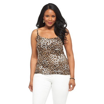 Women's Plus Size Cami Top Black/Brown Paisley Sky