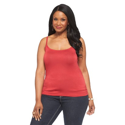 Women's Plus Size Cami Top Red-Paisley Sky