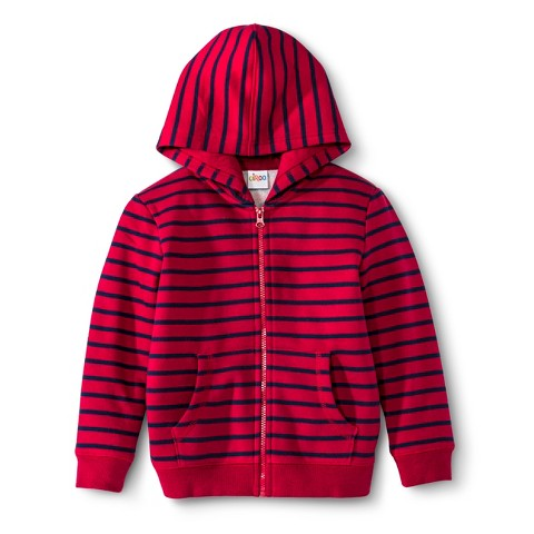 Infant Toddler Boys' Striped Zip-Up Hoodie