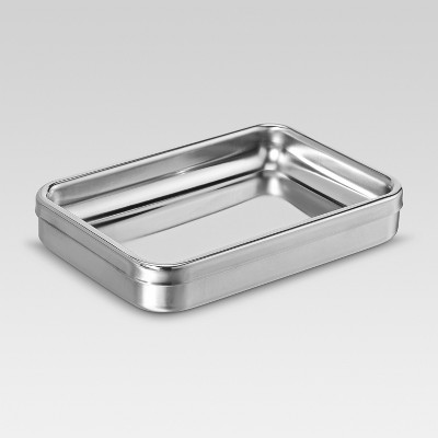 Threshold™ Brushed Stainless Soap Dish