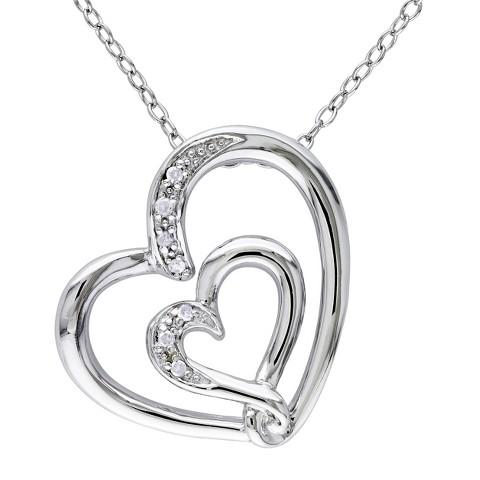 """Allura 0.04 CT. T.W. Diamond Pave Set Pendant in Sterling Silver (GH/I2:I3) (18"""")"""