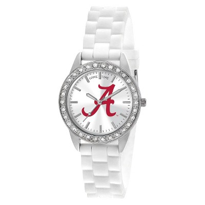 Women's Game Time Frost Series Watch University of Alabama 'A' Logo - White