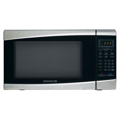 Daewoo 1.3cu.ft. 1100w Countertop Microwave with Touch Control - Stainless Steel/Black