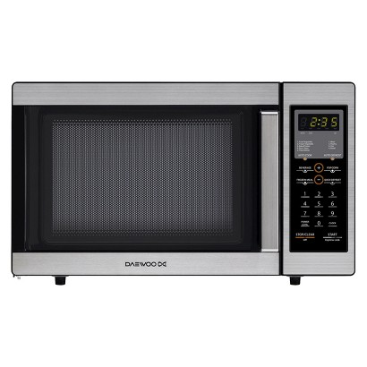 Daewoo 0.9cu.ft. 800w Countertop Microwave with Touch Control - Stainless Steel/Black