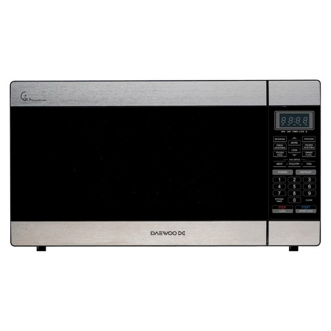 Daewoo 1.6cu.ft. 1000w Countertop Microwave with Touch Control - Stainless Steel/Black