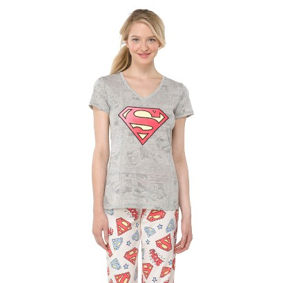 Superman Juniors' Sleep Top - Grey