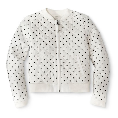 Girls' Polka Dot Bomber Zip-Up