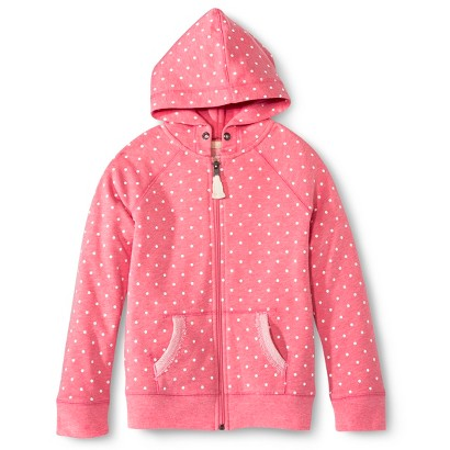 Girls' Polka Dot Zip-Up Hoodie