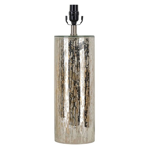 threshold mercury glass column lamp base product details page. Black Bedroom Furniture Sets. Home Design Ideas