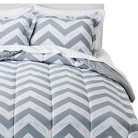 Room Essentials® Chevron Bed in a Bag with Sheet Set - Grey Mist (Twin)