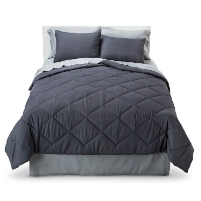 Solid Bed in a Bag with Sheet Set Twin Gray - Room Essentials™