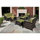 Strathmere Wicker Patio Conversation Furnitur...