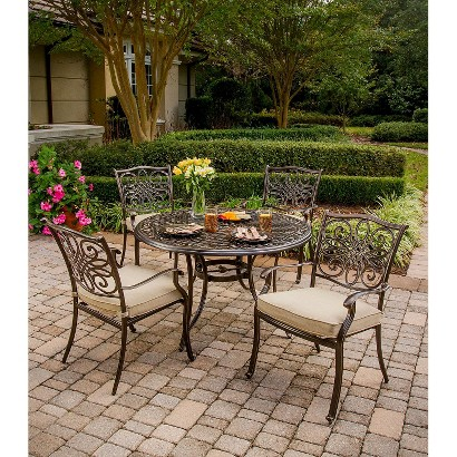 Traditions Metal Patio Dining Furniture Set Tar