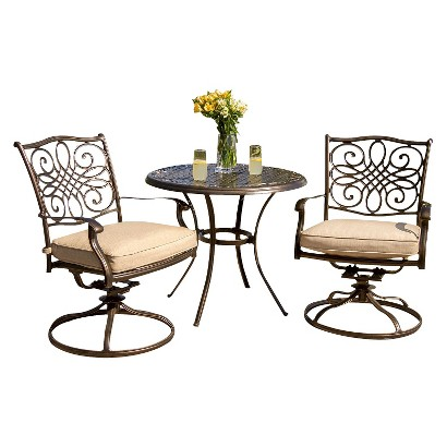 Traditions Metal 3-Piece Patio Bistro Furniture Set