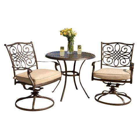 traditions metal 3 patio bistro furniture set target