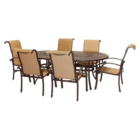 Kerrington 7-Piece Sling Patio Dining Furniture Set