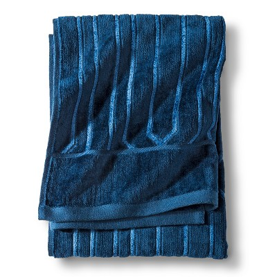 Velour Colette Bath Towel - Navy - Fieldcrest™
