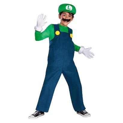 Image of Boy's Luigi Deluxe Costume Medium