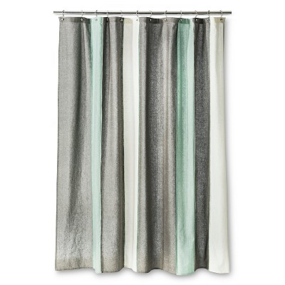 Threshold™ Blanket Stripe Shower Curtain - Gray/White