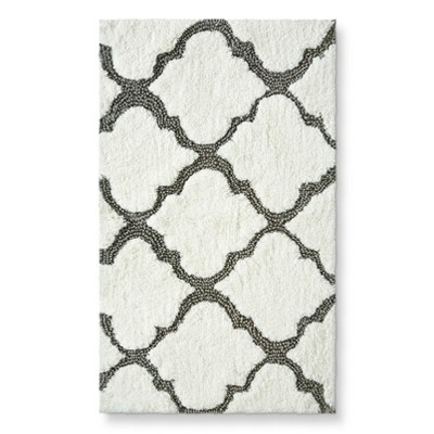 "Threshold™ Medallion Bath Rug - Gray (20X34"")"