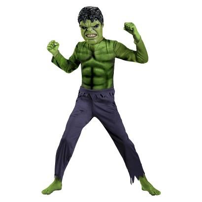Image of Boy's The Avengers Hulk Basic Costume - Medium