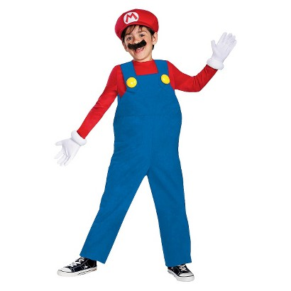 Image of Boy's Mario Deluxe Costume - Large