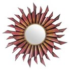 Metal Sun Mirror Red