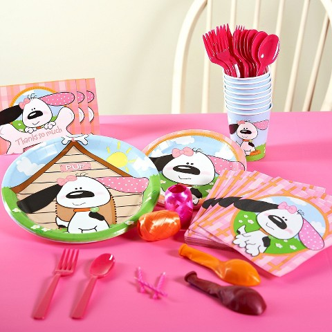 Playful Pink Puppy Birthday Party Pack