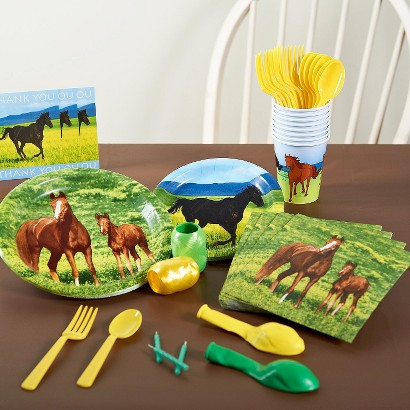 Wild Horses Party Pack for 16 - Multicolor