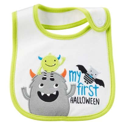 Image of Just One YouMade by Carter's Newborn My First Halloween Monster Bib -