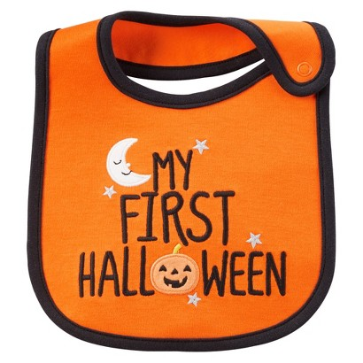 Image of Just One YouMade by Carter's Newborn My First Halloween Bib - Orange
