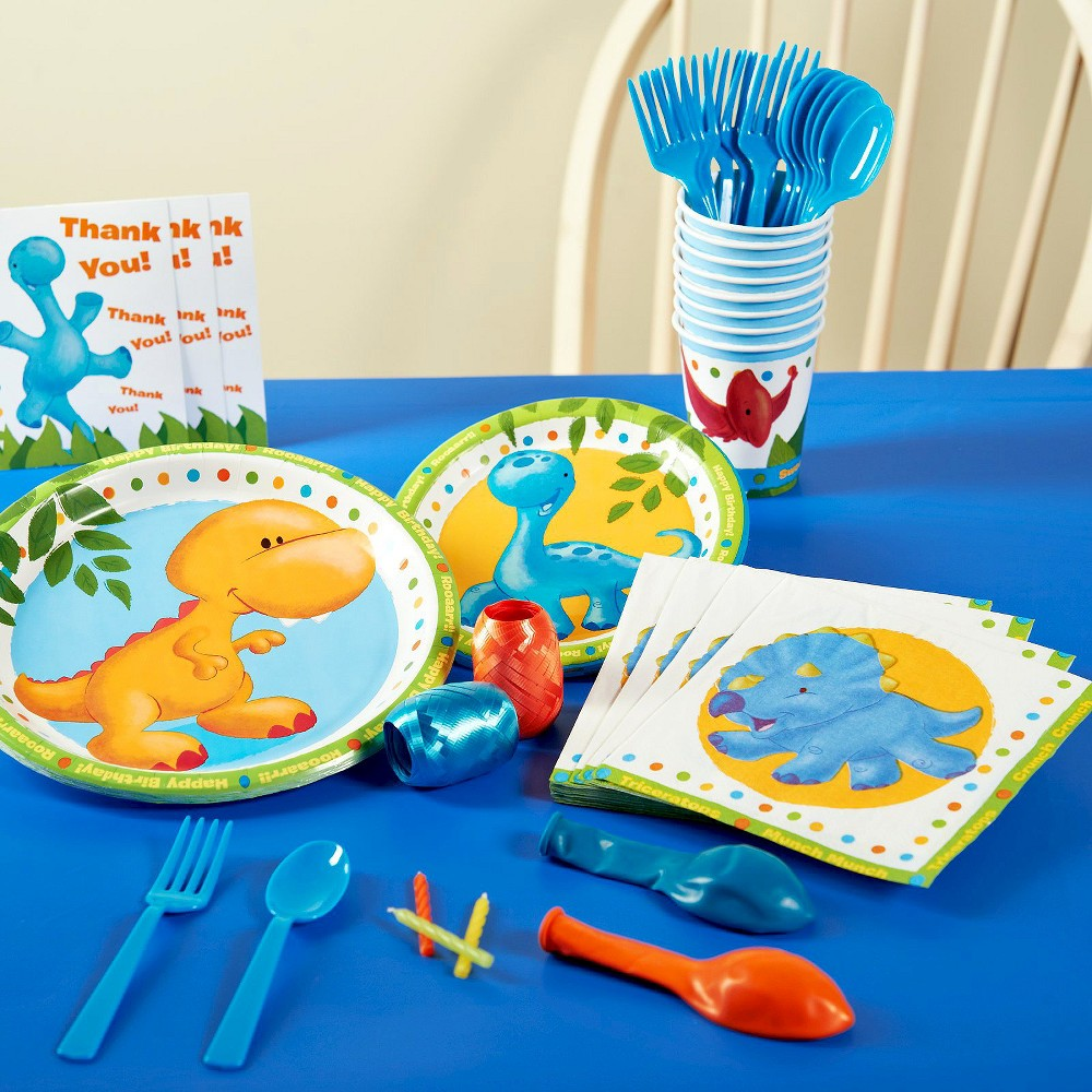 Little Dinosaur Birthday Party Pack for 16, Variation Parent