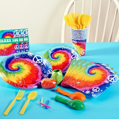 Tie Dye Fun Party Pack for 8 - Multicolor