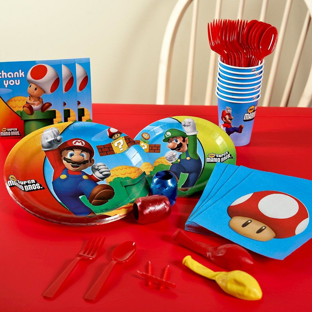Super Mario Brothers Birthday Party Pack for 8, Variation Parent