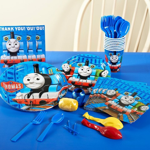 Thomas the Tank Engine Party Pack for 8 - Multicolor