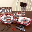 Sock Monkey Red Birthday Party Pack