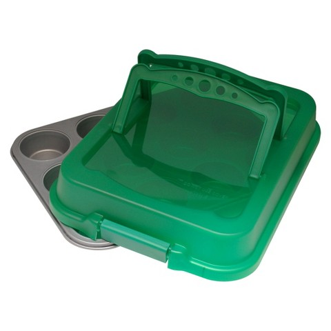 OvenStuff 12 Cup Cupcake Carrier  Green