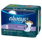 Always Ultra Thin Extra Heavy Overnight Pads - 34 Count