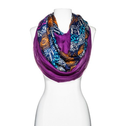 Two-In-One Infinity Scarves - Purple/Blue