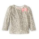 Infant Toddler Girls' Long Sleeve Leopard Print Tee