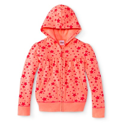 Infant Toddler Girls' Star Hooded Zip-Up Sweatshirt