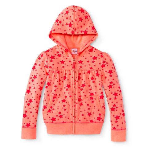 Infant Toddler Girls' Star Hooded Zip-Up Sweatshirt