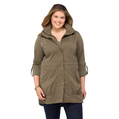 Plus Size Outerwear Parka-Mossimo Supply Co