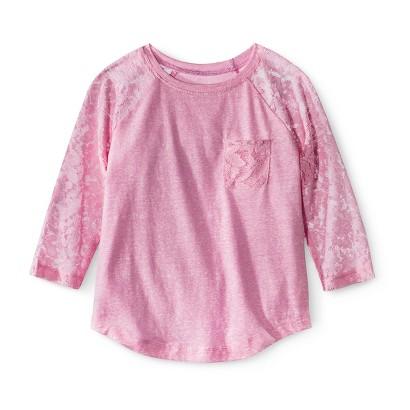 Girls' 3/4 Sleeve Tee Shirt