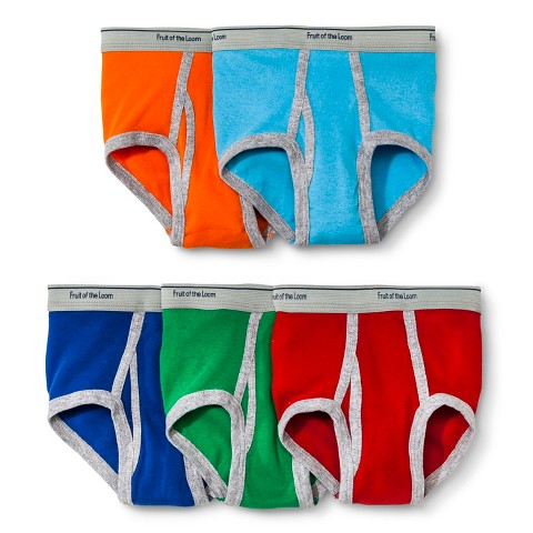 Fruit of the Loom® Toddler Boys' 5-Pack Briefs - Colors May Vary