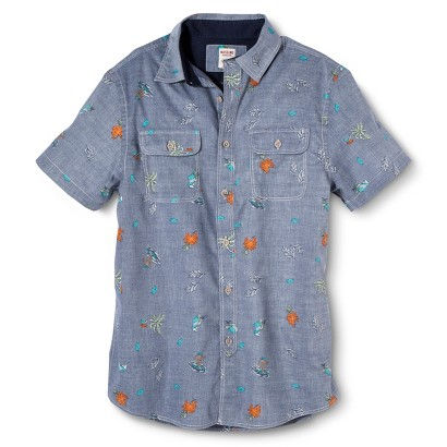 Mossimo Supply Co. Men's Short Sleeve Tropical Print Shirt